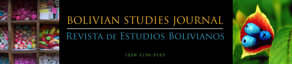 Bolivian Studies Journal - Revista de Estudios Bolivianos